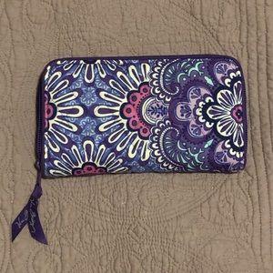 Purple Tapestry Vera Bradley Zip Wallet
